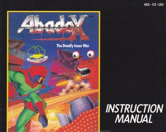 Abadox - Nintendo NES - Original MANUAL ONLY - Authentic - Instruction Booklet