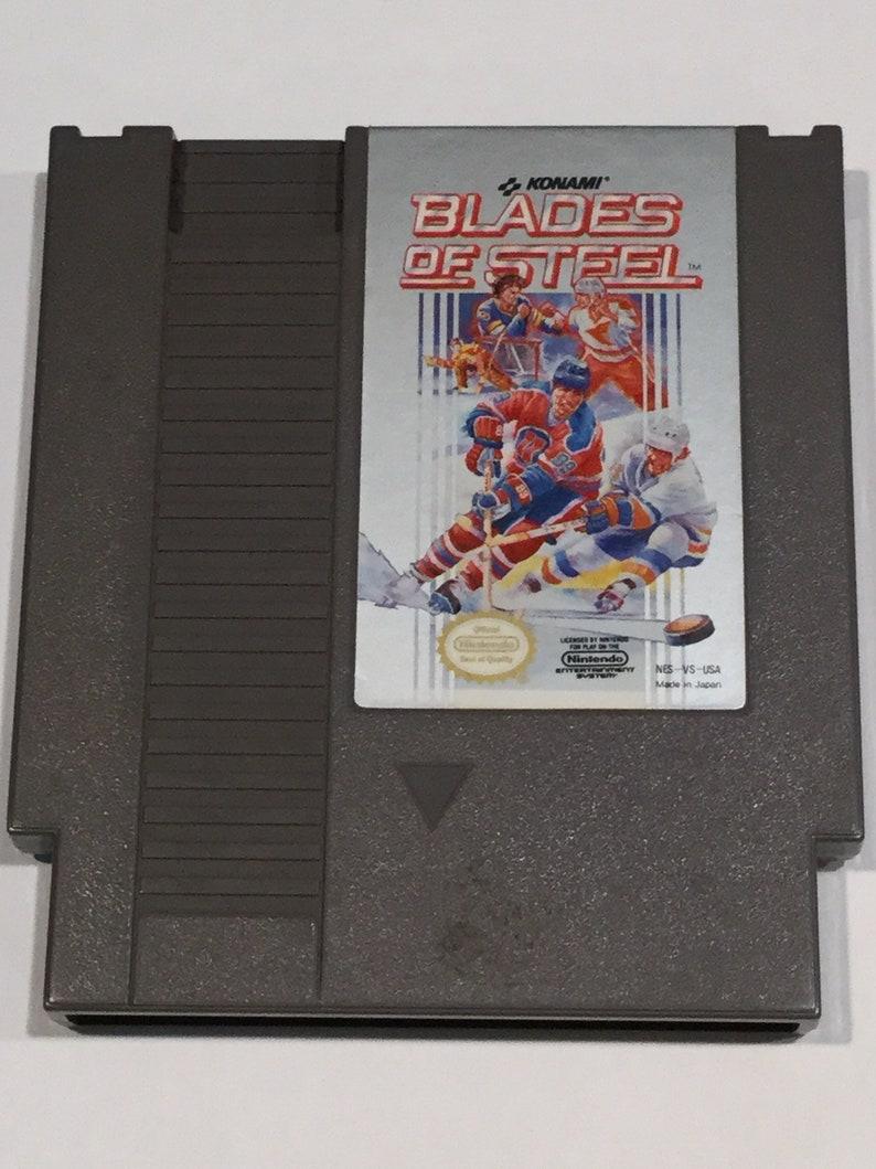 Blades of Steel  Nintendo NES  Original Game Cart  Tested & image 0