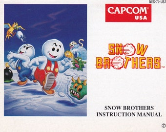 Snow Brothers - Nintendo NES - Original Manual Only - Authentic - Instruction Booklet