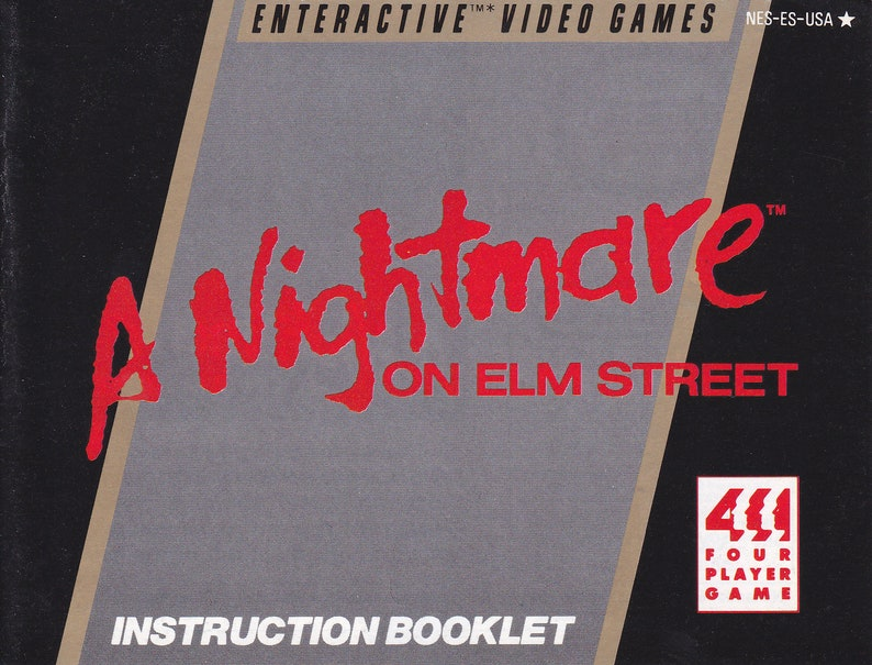 A Nightmare on Elm Street  Nintendo NES  Original MANUAL image 0