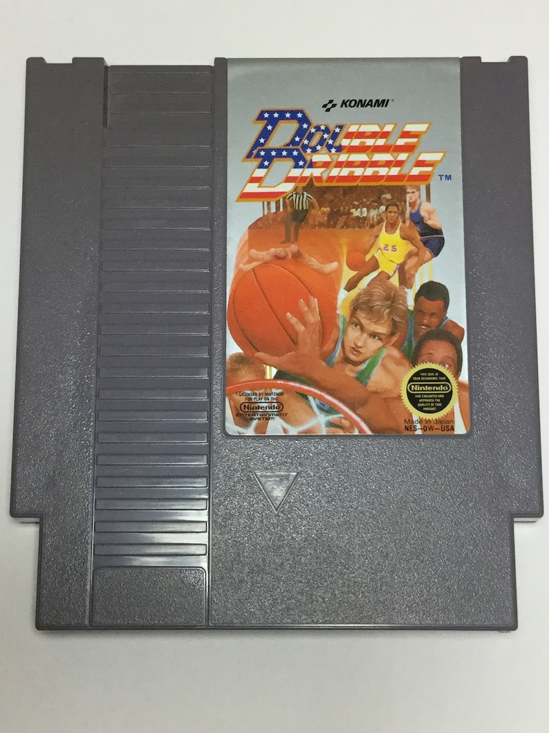 Double Dribble  Nintendo NES  Original Game Cart  Tested & image 0