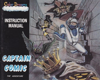 Captain Comic - Nintendo NES - Original Manual ONLY - Authentic - Instruction Booklet