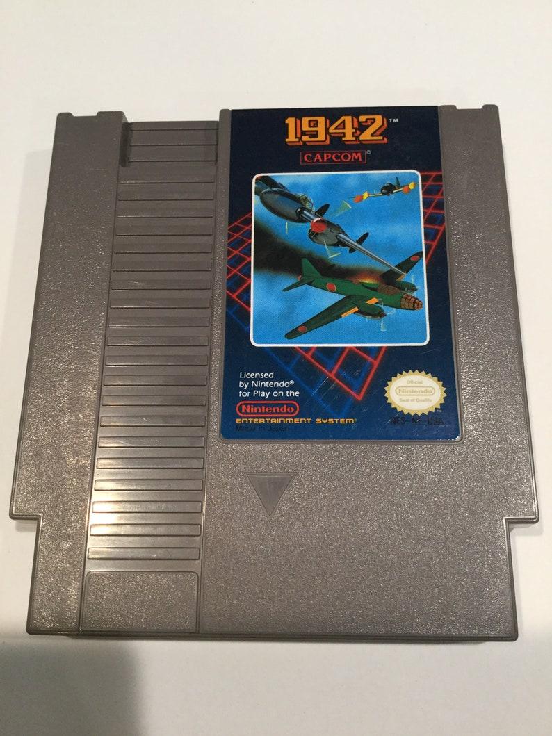 1942  Nintendo NES  Original Game Cart  Tested & Working image 0