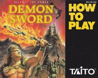 Demon Sword - Nintendo NES - Original MANUAL ONLY - Authentic - Instruction Booklet