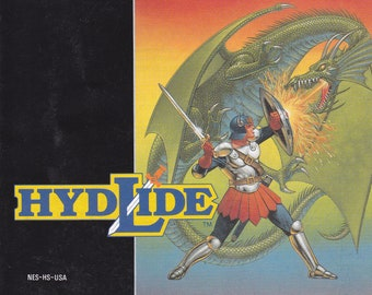 Hydlide - Nintendo NES - Original MANUAL ONLY - Authentic - Instruction Booklet