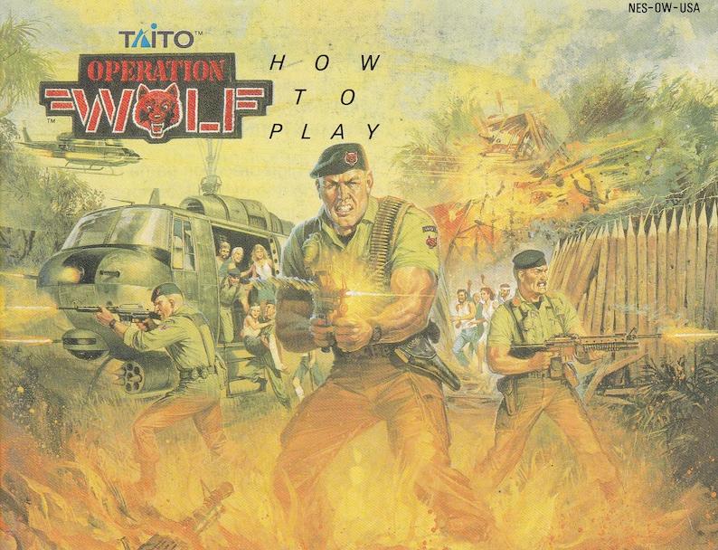 Operation Wolf  Nintendo NES  Original Manual Only  image 0