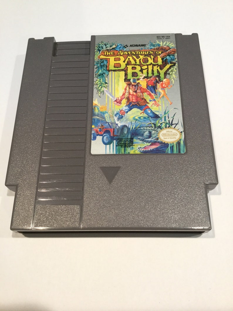 Adventures of Bayou Billy  Nintendo NES  Original Game Cart image 0
