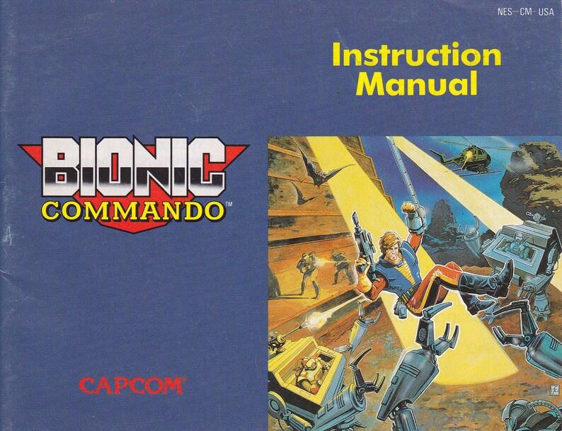 Bionic Commando  Nintendo NES  Original Manual ONLY  image 0