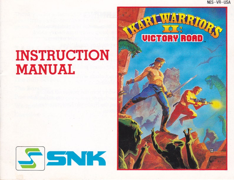 Ikari Warriors II  Nintendo NES  Authentic Original Manual image 0