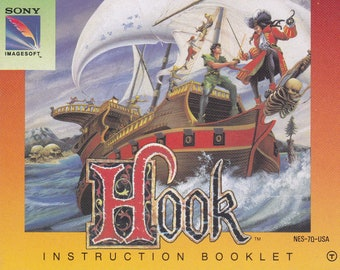Hook - Nintendo NES - Original MANUAL ONLY - Authentic - Instruction Booklet