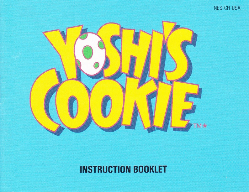 Yoshi's Cookie  Nintendo NES  Authentic Original Manual image 0