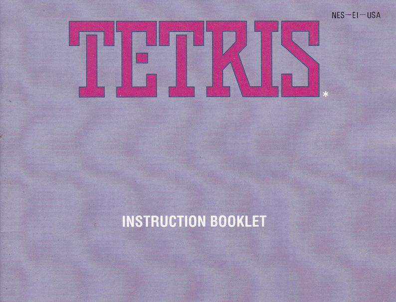 Tetris  Nintendo NES  Original Manual Only  Authentic  image 0