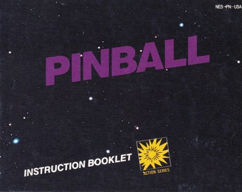 Pinball - Nintendo NES - Authentic Original Manual Only - Instruction Booklet
