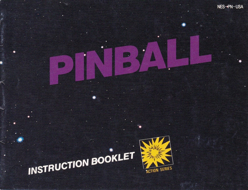 Pinball  Nintendo NES  Authentic Original Manual Only  image 0