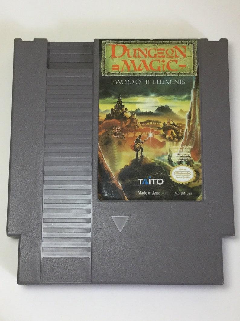Dungeon Magic: Sword of the Elements  Nintendo NES  Original image 0
