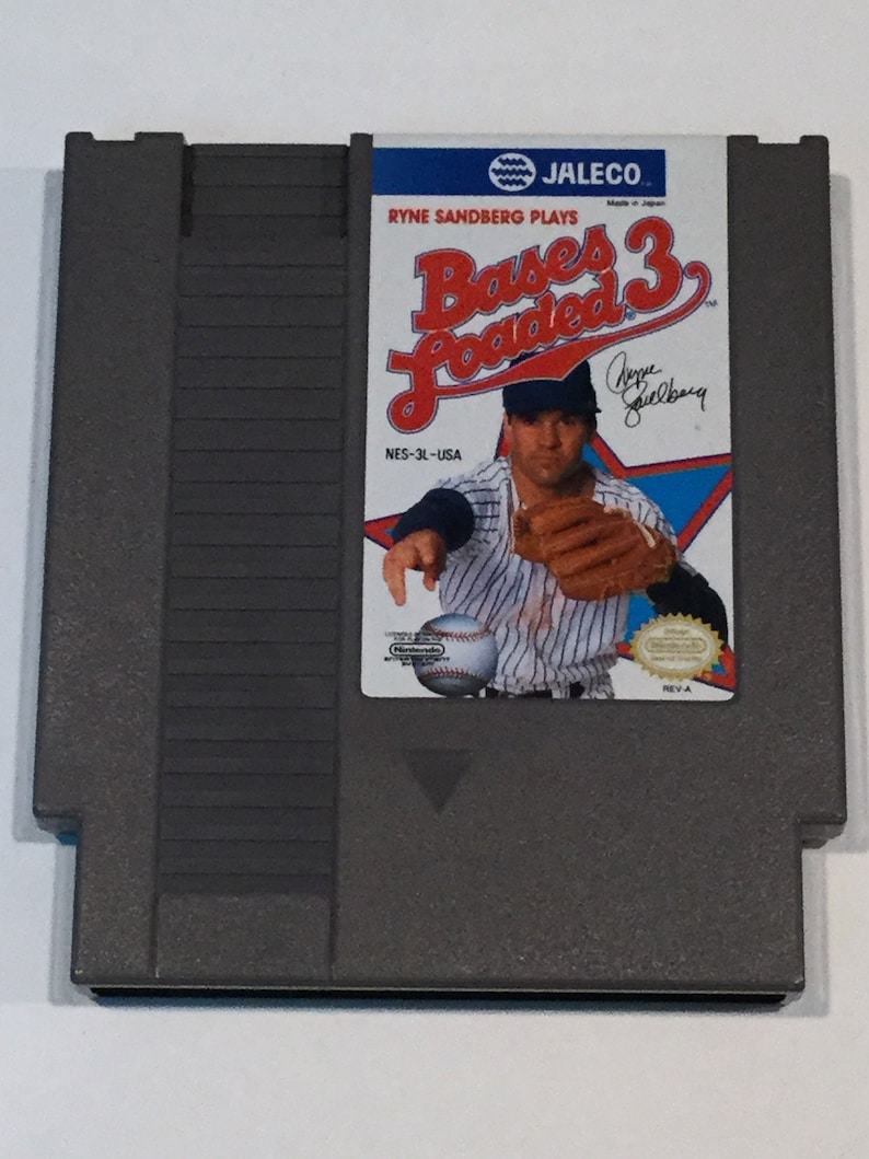 Bases Loaded 3  Nintendo NES  Original Game Cart  Tested & image 0