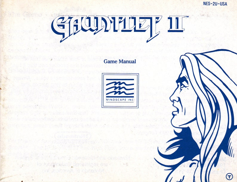 Gauntlet II  Nintendo NES  Original Manual ONLY  Authentic image 0