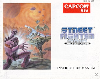 Street Fighter 2010 the Final Fight - Nintendo NES - Original Manual Only - Authentic - Instruction Booklet