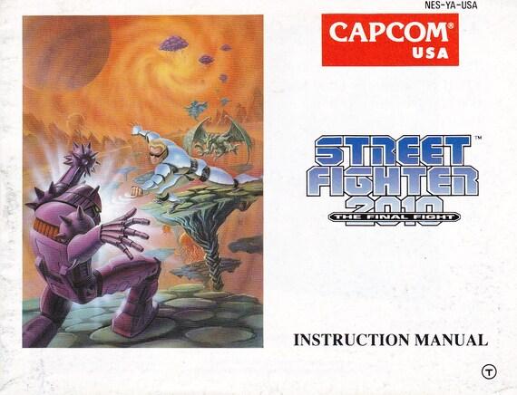 Street Fighter 2010 The Final Fight Nintendo Nes Original Etsy