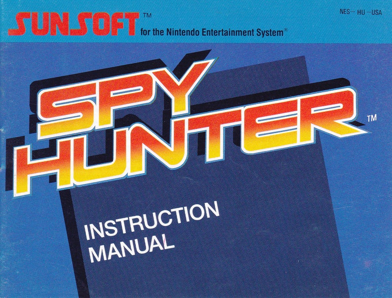 Spy Hunter  Nintendo NES  Original Manual Only  Authentic  image 0