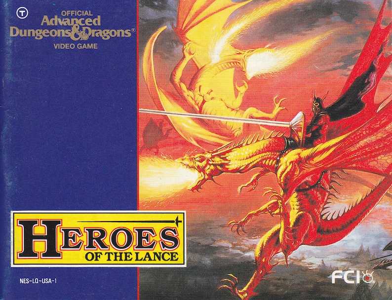 Advanced Dungeons & Dragons Heroes of the Lance  Nintendo NES image 0