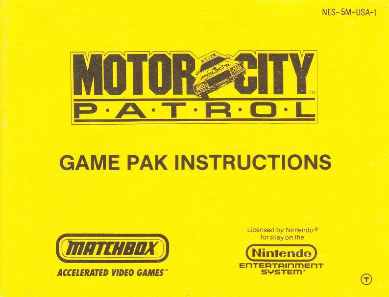 Motor City Patrol  Nintendo NES  Original MANUAL ONLY  image 0