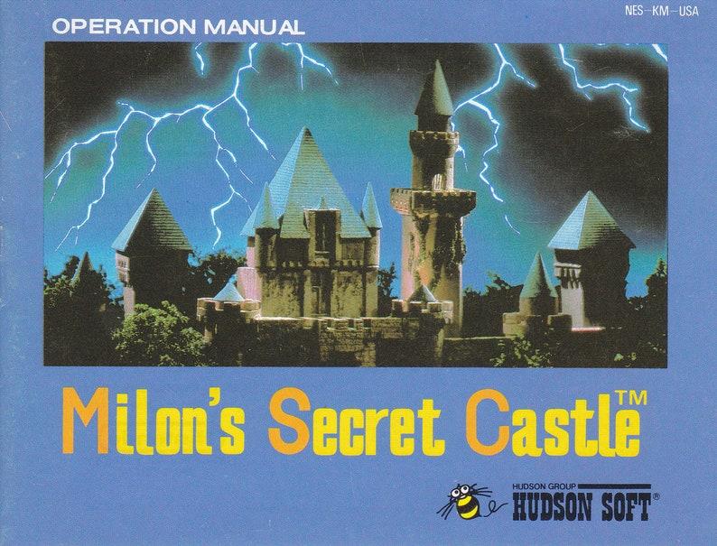 Milon's Secret Castle  Nintendo NES  Original MANUAL image 0