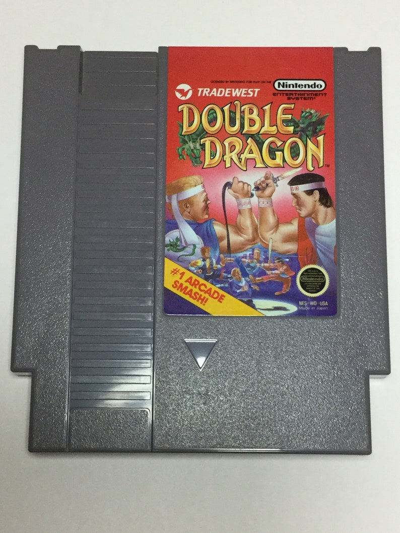 Double Dragon  Nintendo NES  Original Game Cart  Tested & image 0