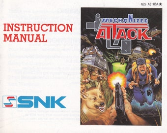 Mechanized Attack - Nintendo NES - Original MANUAL ONLY - Authentic - Instruction Booklet