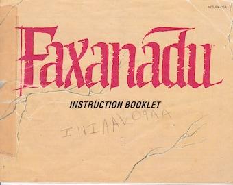 Faxanadu - Nintendo NES - Original MANUAL ONLY - Authentic - Instruction Booklet