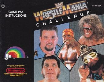 WWF Wrestlemania Challenge - Nintendo NES - Authentic Original Manual Only - Instruction Booklet