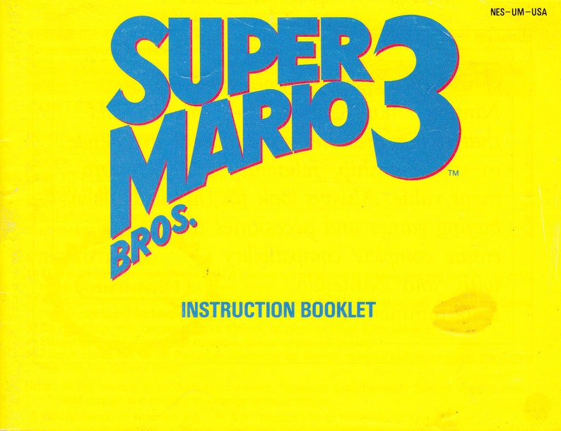 Super Mario Bros 3  Nintendo NES  Original Manual Only  image 0