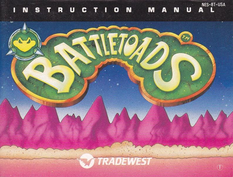 Battletoads  Nintendo NES  Original Manual ONLY  Authentic image 0