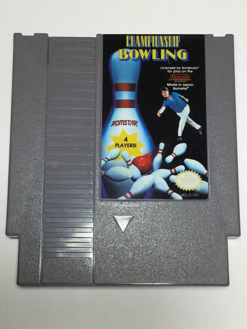 Championship Bowling  Nintendo NES  Original Game Cart  image 0