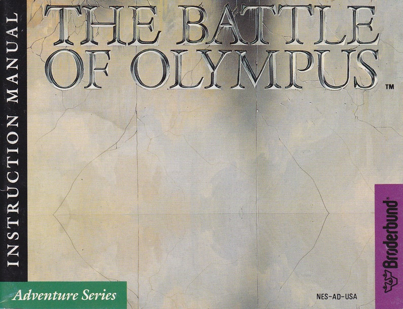 Battle of Olympus  Nintendo NES  Original Manual ONLY  image 0