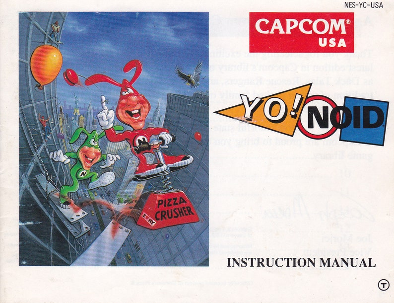 Yo Noid  Nintendo NES  Authentic Original Manual Only  image 0