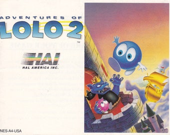 Adventures of Lolo 2 - Nintendo NES - Original MANUAL ONLY - Authentic - Instruction Booklet