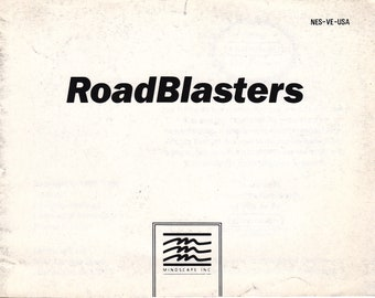 RoadBlasters - Nintendo NES - Original Manual Only - Authentic - Instruction Booklet