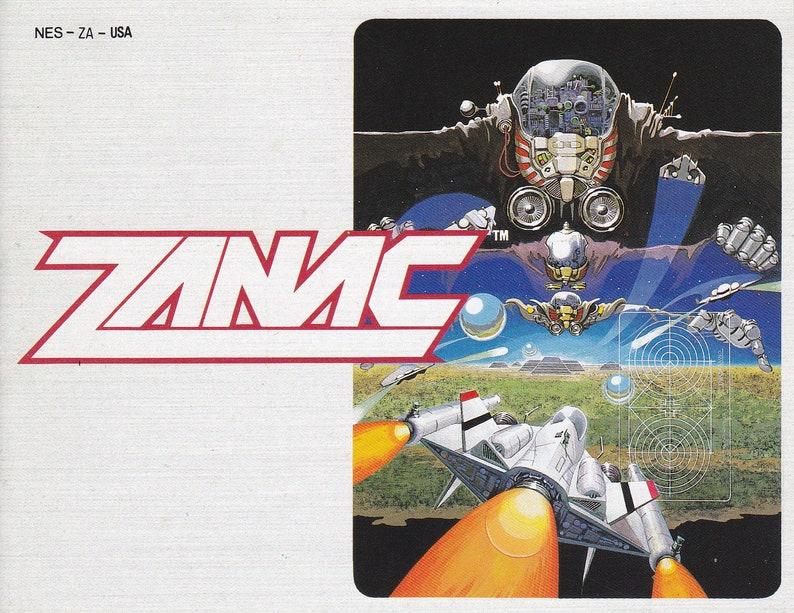 Zanac  Nintendo NES  Authentic Original Manual Only  image 0