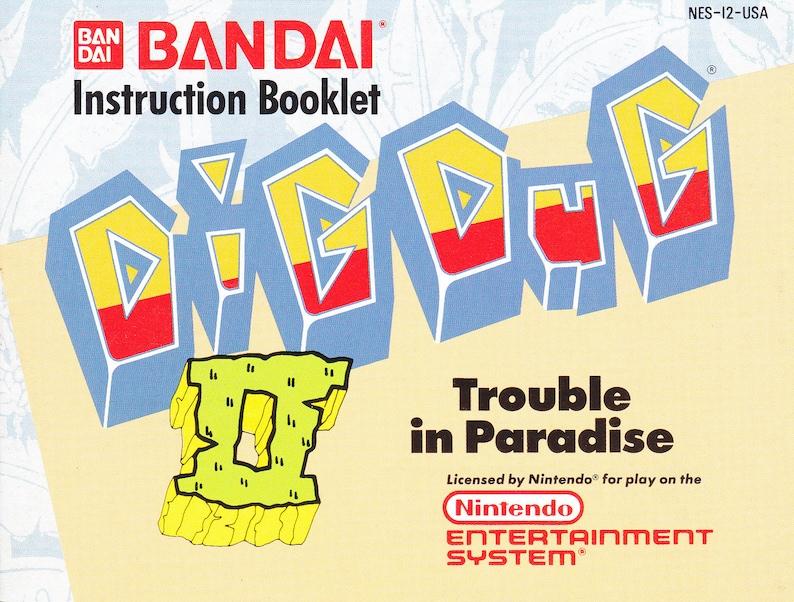 Dig Dug II: Trouble in Paradise  Nintendo NES  Original image 0