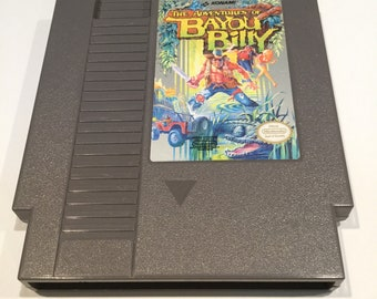 Adventures of Bayou Billy - Nintendo NES - Original Game Cart - Tested & Working