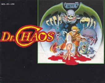 Dr Chaos - Nintendo NES - Original MANUAL ONLY - Authentic - Instruction Booklet