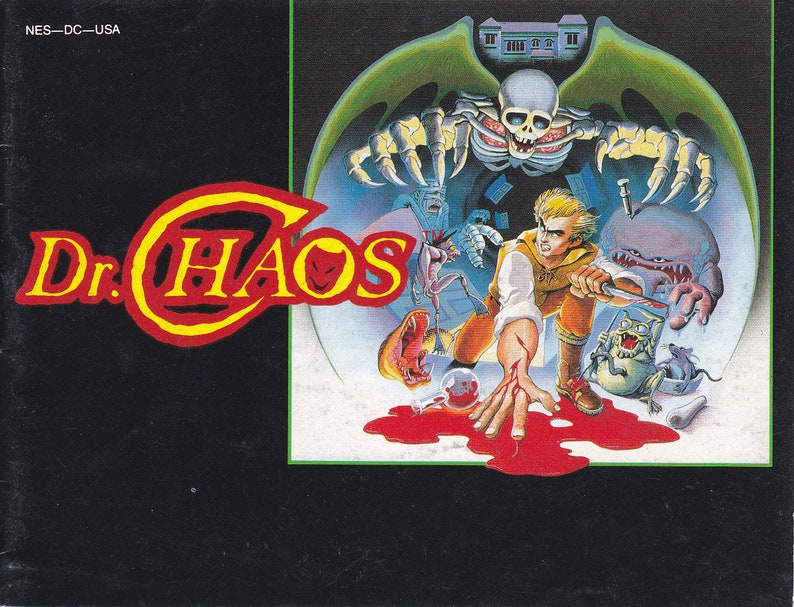 Dr Chaos  Nintendo NES  Original MANUAL ONLY  Authentic  image 0