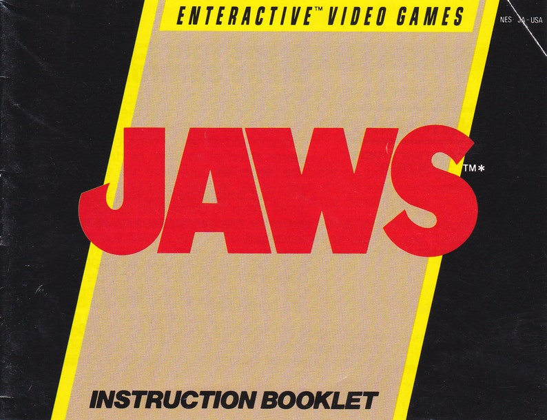 Jaws  Nintendo NES  Original Manual Only  Authentic  image 0