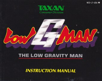 Low G Man - Nintendo NES - Original MANUAL ONLY - Authentic - Instruction Booklet