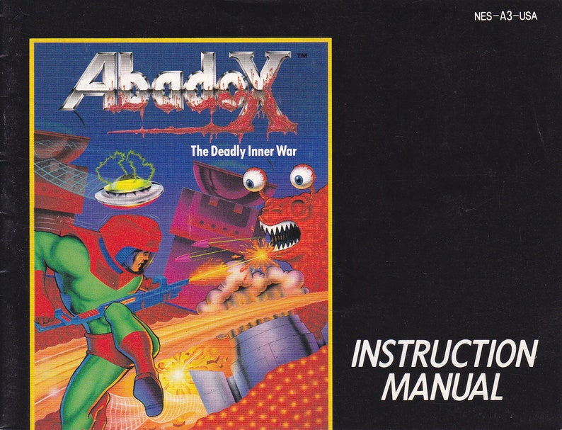 Abadox  Nintendo NES  Original MANUAL ONLY  Authentic  image 0