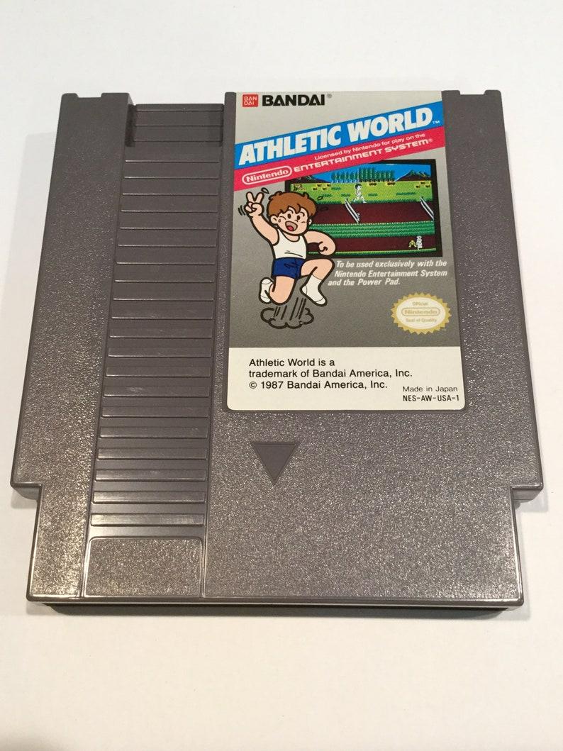 Athletic World  Nintendo NES  Original Game Cart  Tested & image 0