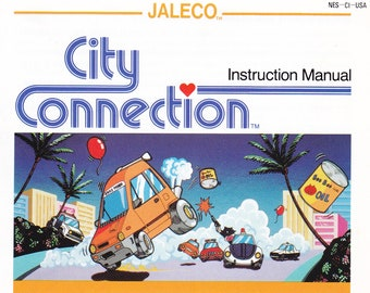 City Connection - Nintendo NES - Authentic Original Manual Only - Instruction Booklet