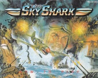 Sky Shark - Nintendo NES - Original Manual Only - Authentic - Instruction Booklet
