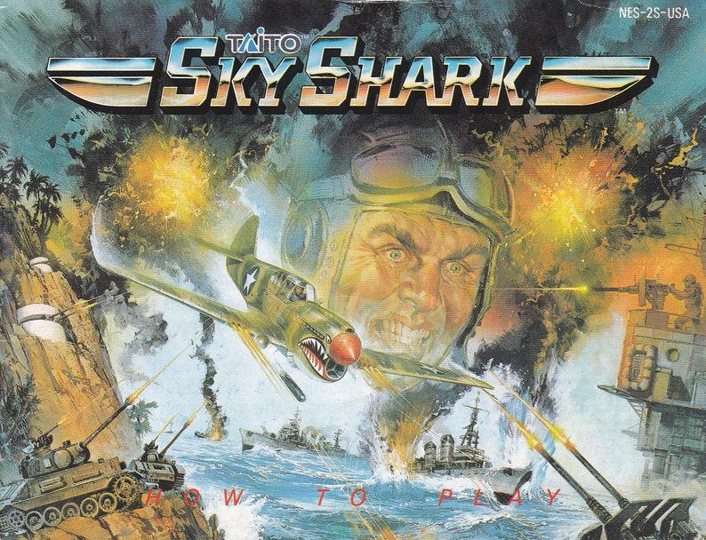 Sky Shark  Nintendo NES  Original Manual Only  Authentic  image 0